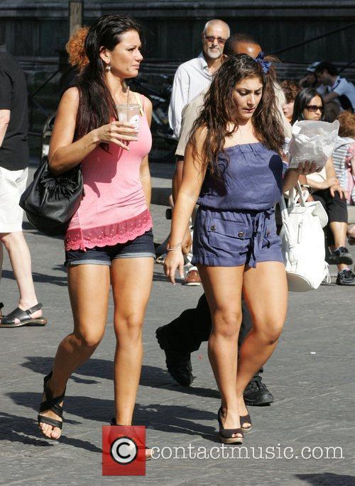 Jenni JWoww Farley and Deena Nicole Cortese of...