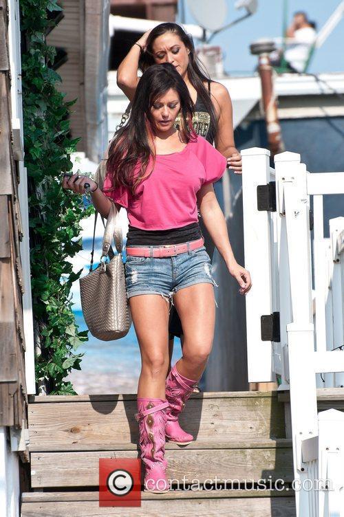 Jenni Farley, Sammi Giancola  Jersey Shore Filming...