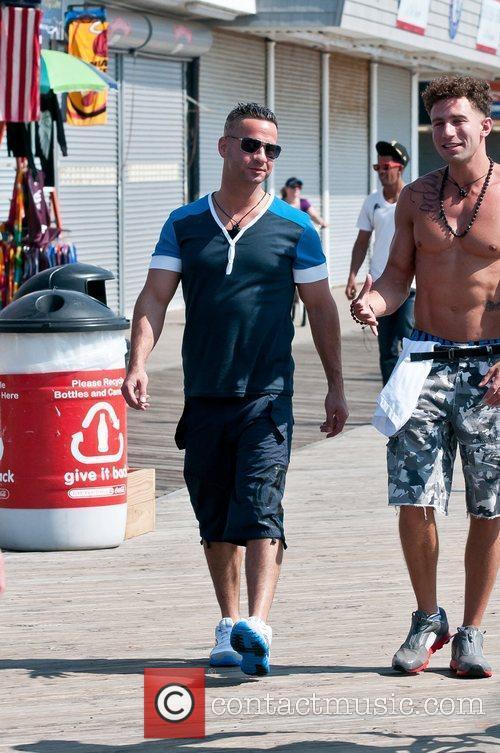 Michael Sorrentino aka The Situation walking along the...