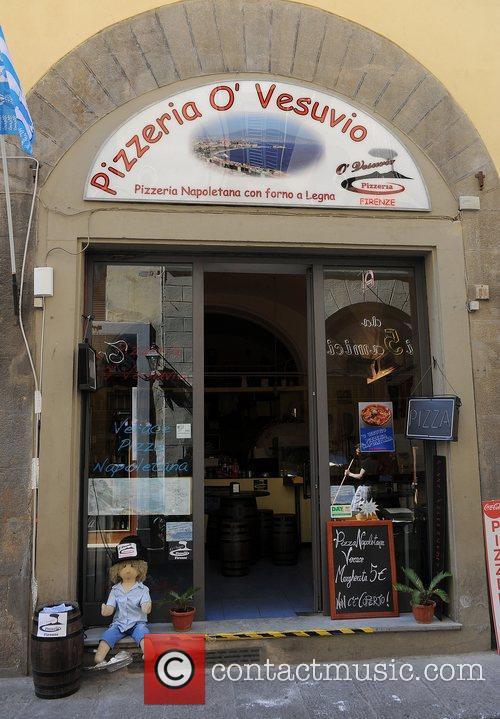The O' Vesuvio Pizzeria, where the cast are...