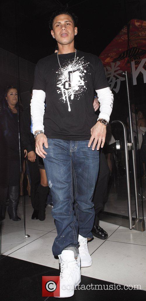DJ Pauly D aka Paul DelVecchio leaving Katsuya...