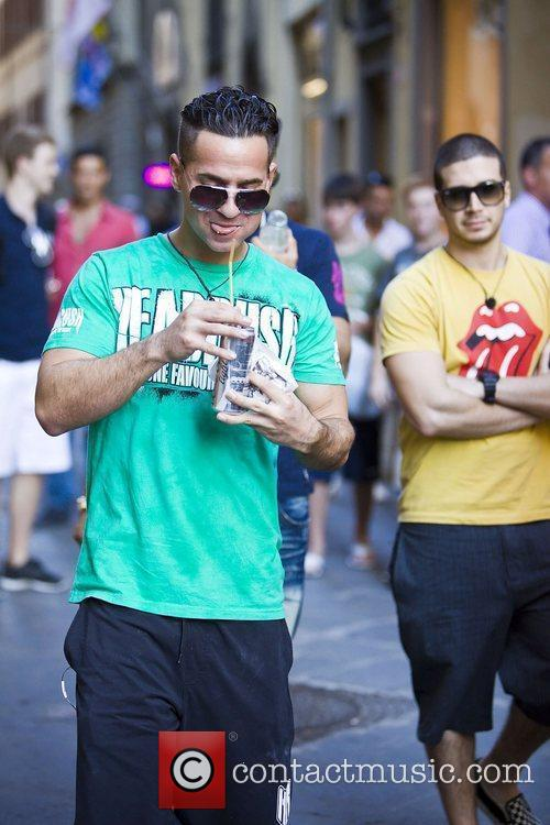 Mike The Situation Sorrentino, Vinny Guadagnino head out...