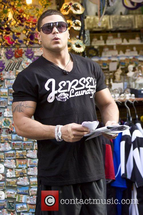 Ronnie Ortiz-Magro of 'Jersey Shore' at a souvenir...