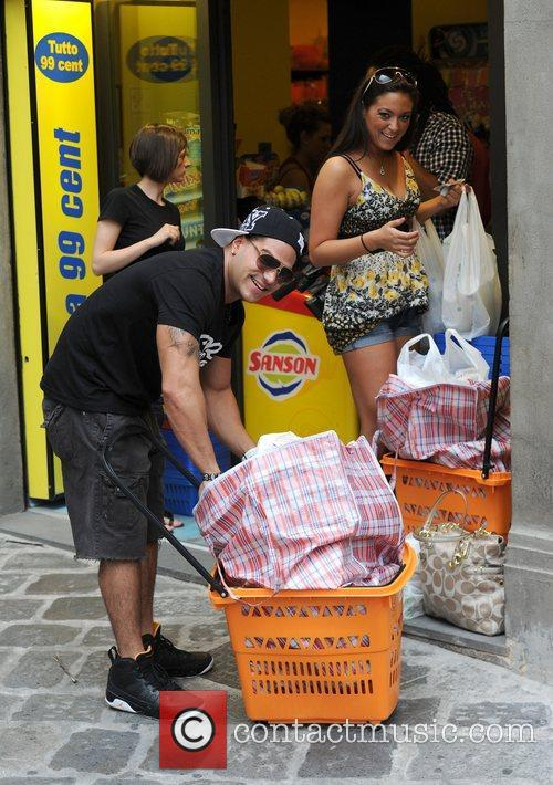Jersey Shore cast members visit the Tutto 99...