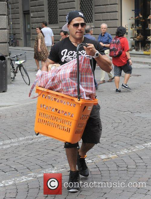Ronnie Ortiz-Magro Jersey Shore cast members visit the...