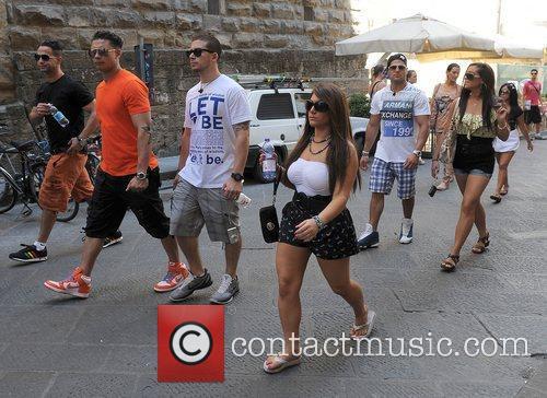 Jersey Shore cast members enjoy a tour of...