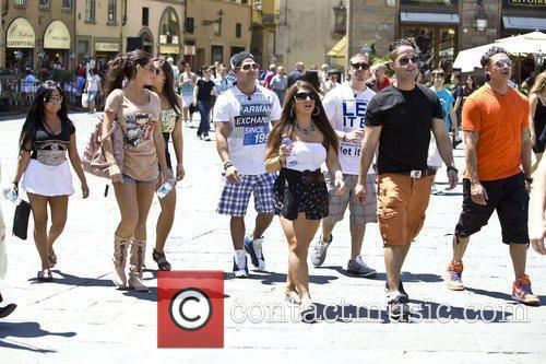 The cast of Jersey Shore in Florence