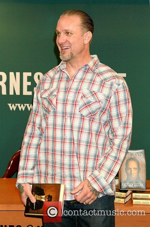 Jesse James  signs copies of his new...