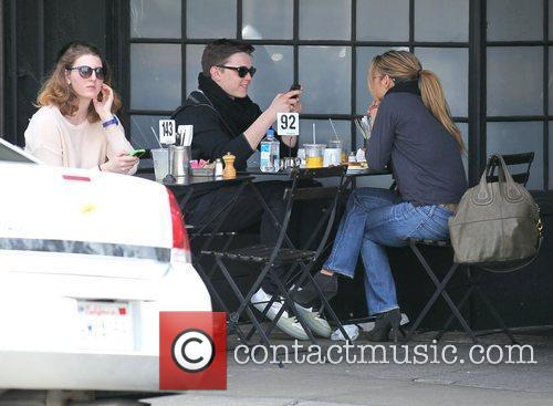Singer Jesse McCartney having lunch at Joan's On...