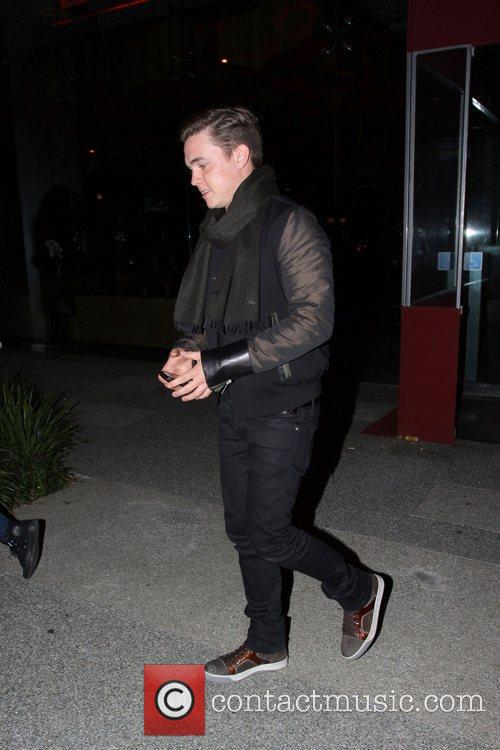 Is seen leaving BOA Steakhouse in West Hollywood