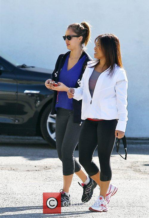 Departs a gym in West Hollywood