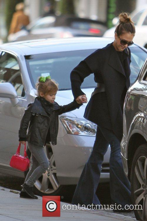 jessica alba and daughter honor seen leaving 3622883