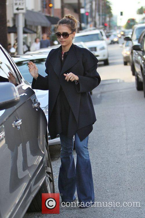 Seen leaving 'La Pain Quotidian' in Beverly Hills...