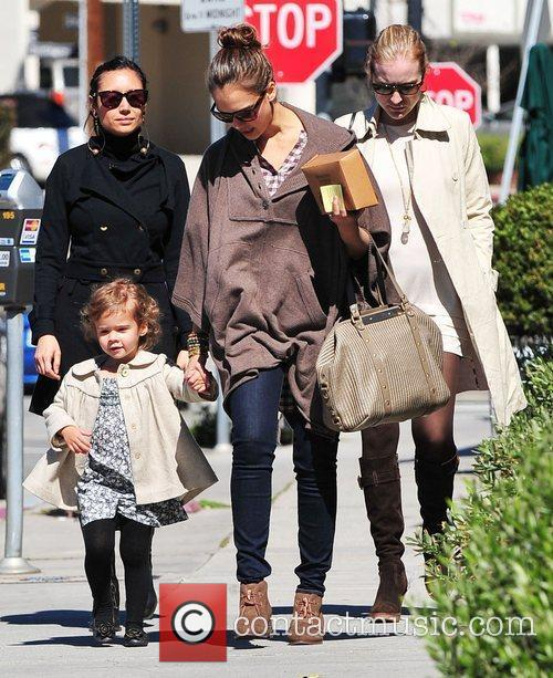 Jessica Alba and her daughter Honor Marie out...