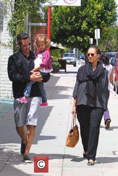 Jessica Alba, Cash Warren, and daughter Honor go...