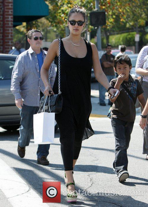 Jessica Alba  out shopping with her mother...
