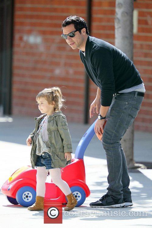 Cash Warren and is daughter Honor Marie enjoy...