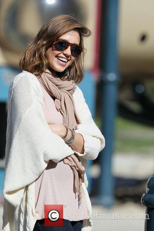 Jessica Alba enjoys a family day out at...