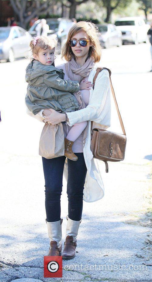 Jessica Alba and Honor Marie enjoy a family...