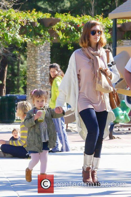 Jessica Alba and her daughter Honor Marie enjoy...