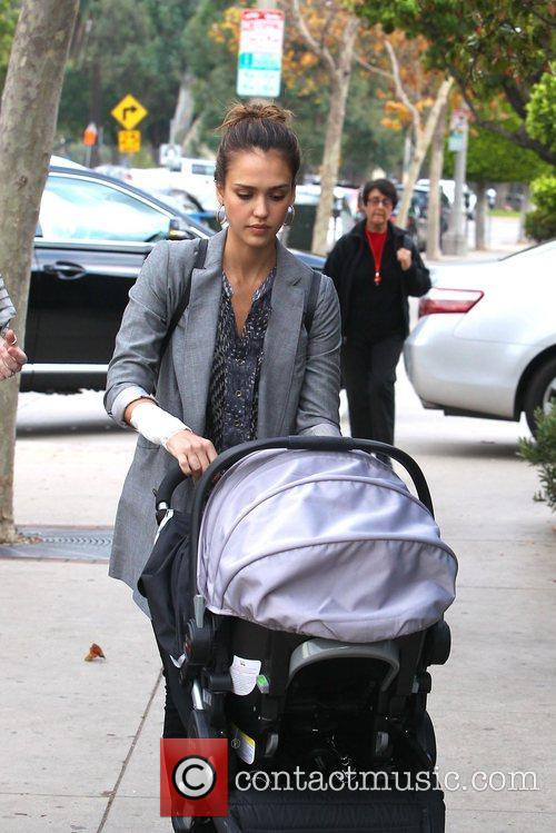Jessica Alba is seen after having lunch with...