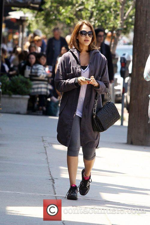 Jessica Alba leaving Joan's on Third after having...