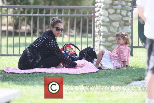 Jessica Alba and Honor Marie Warren shows off...