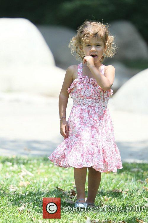 Jessica Alba's daughter enjoys the day at Coldwater...