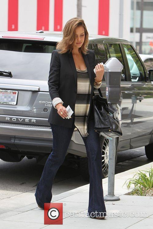 Pregnant actress leaving a nail salon in Beverly...