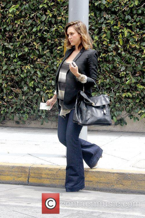 Jessica Alba outside a nail salon in Beverly...