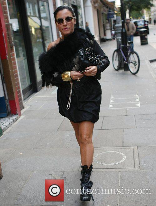 Jessie Wallace out and about in Covent Garden...