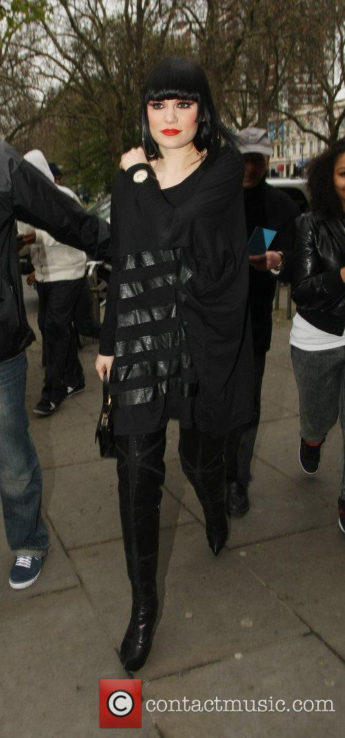 Jessie J arrives at the O2 Shepherd's Bush...