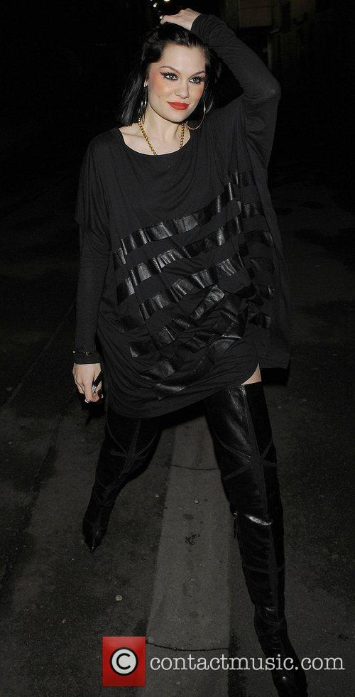 Jessie J leaving her gig at the O2...