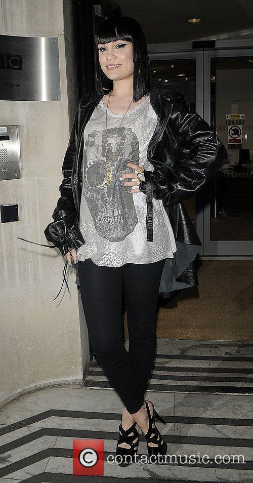 Singer Jessie J leaving BBC Radio 2 London,...