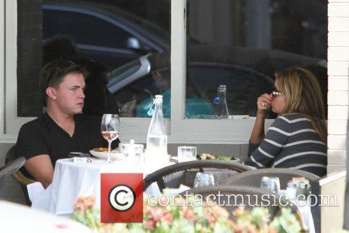 Jessie McCartney seen having lunch with a friend...