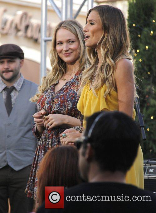 Seen at The Grove filming an appearance on...