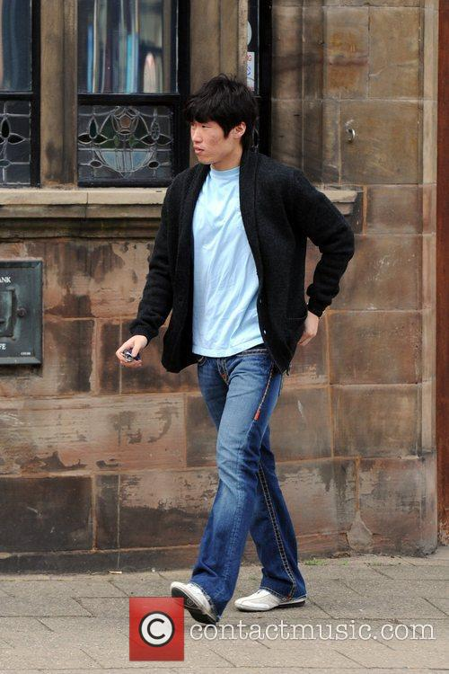 Manchester United player Ji-Sung Park stops at Barclays...