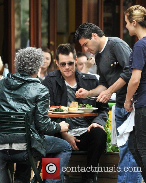 Jim Carey  has a late lunch at...