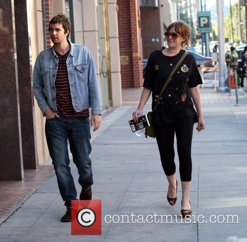Jim Sturgess and his girlfriend arrive at a...