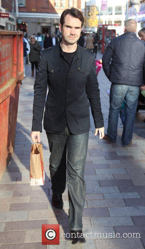 Jimmy Carr is seen shopping while in Belfast...