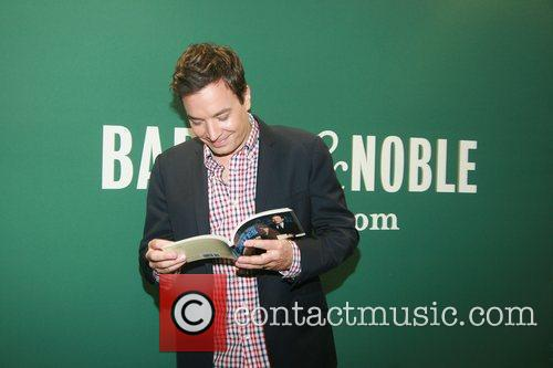 Jimmy Fallon at a book signing for his...