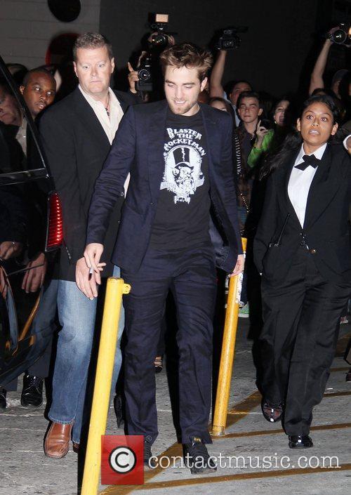 Robert Pattinson leaves the 'Jimmy Kimmel Live!' studios...
