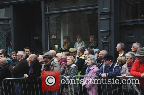 Atmosphere  The funeral of Sir Jimmy Savile...