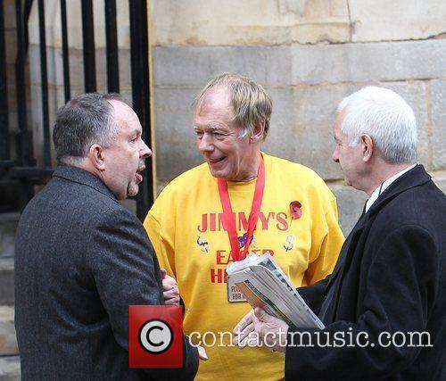 Andy Peebles, Dave Eager The funeral of Sir...