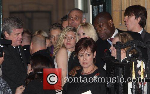 Frank Bruno and guests  The funeral of...