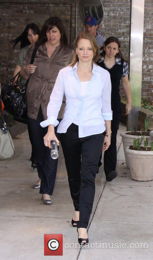 Jodie Foster after appearing on 'The Diane Rehm...