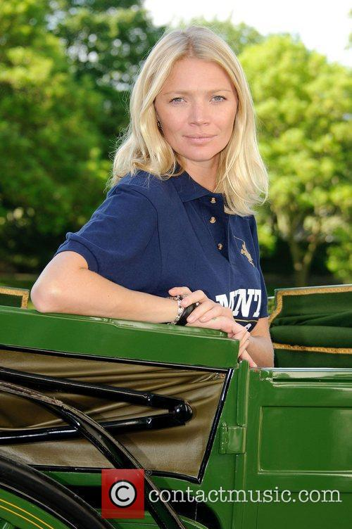 Jodie Kidd arrives in the official Harrods horse...