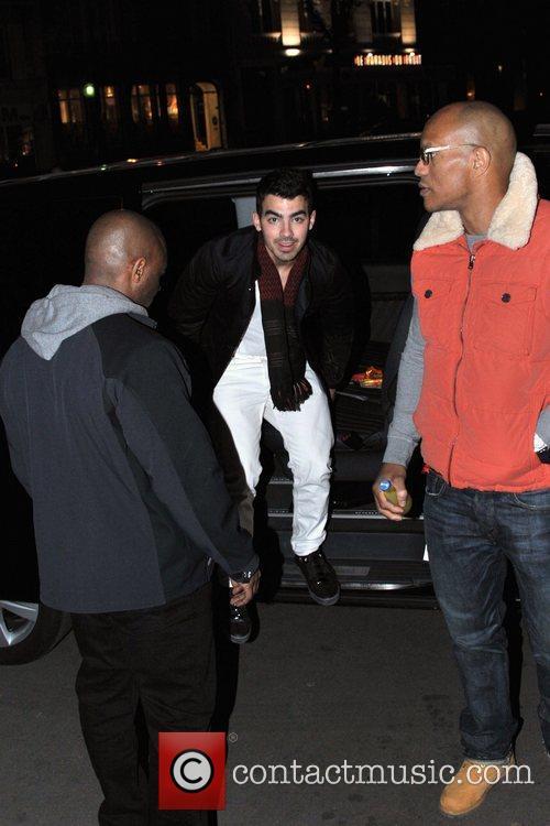 Joe Jonas  arrives at his hotel Paris,...