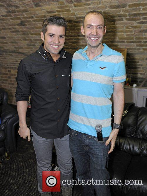 Joe McElderry with G-A-Y owner Jeremy Joseph before...
