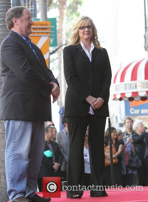 John Lasseter, Bonnie Hunt and Star On The Hollywood Walk Of Fame 8